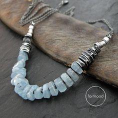 Necklace aquamarine by studioformood on Etsy::