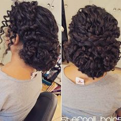 100 hairstyles for naturally curly hair to rock this summer - Hairstyles Trends Natural Hair Wedding, Natural Wedding Hairstyles, Wedding Hair And Makeup, Curly Hair Updo Wedding, Prom Hair, Bridal Makeup, Black Curly Hair, Long Curly Hair, Curly Hair Styles