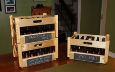 Make Beer crates for hubby