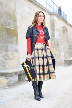 Pin for Later: Street Style That Proves You Can Mix and Match Bold Prints Bold Lines
