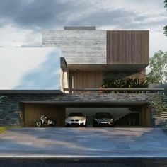 Best Dream House We've all got some ideas of how our dream home and its interior design might… Architecture Design, Modern Architecture House, Facade Design, Modern House Design, Amazing Architecture, Render Design, Minimal Architecture, Facade House, Minimal Design