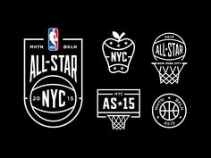 Next year, NYC will co-host the NBA All-Star Weekend in Manhattan (MSG) and  Brooklyn (Barclays Center). Below are some branding concepts by a few  designers on Dribbble.  Nathan Shinkle  Brandon Moore  Josh Lee  Andrew Sterlachini