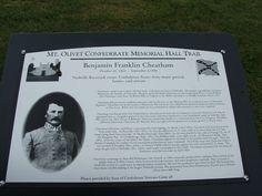 Benjamin Franklin Cheatham- Confederate Army Major General  Mt. Olivet.Cemetery, Nashville, TN