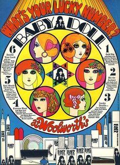 1960s Woolworth's UK Baby Doll Cosmetics advert