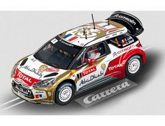 """The Carrera Citroën DS3 WRC """"Citroën Total Abu Dhabi, No.1"""", is a superbly detailed Carrera Evolution slot car for use on any 1/32 analogue slot car layout."""