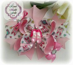 Princess Hair bow Tiara n Heels Fancy Stacked by handmadefrillsuk
