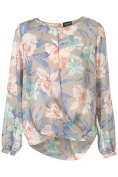 Lily Drape Front Blouse from Topshop