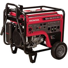 Honda 660530 5,000 Watt Portable Generator w/ iAVR Technology (CARB). Advanced iAVR (Intelligent Automatic Voltage Regulator) technology provides a constant flow of power regardless of the load. Provides 7,000 Watts for ten seconds after unit start up to power up larger equipment. Powerful Honda iGX390 commercial grade engine offers greater fuel economy, reduced emissions and more power. Provide more power and flexibility with the 120/240V selector switch for larger appliances with higher...