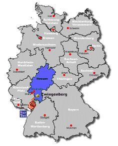 hesse-darmstadt map | Bergstrasse Germany Genealogy