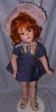 Effanbee factory Original Composition Doll - Replaced Hat