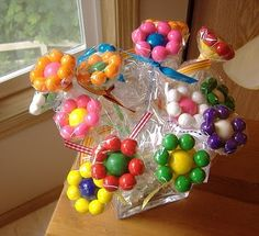What else can be done with the leftover candy? | Use the Candy in Craft Projects