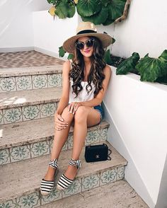I& been wearing these striped espadrilles Espadrilles Outfit, Striped Espadrilles, Southern Curls And Pearls, Italy Outfits, Europe Outfits, Travel Outfit Summer, Vacation Outfits, Travel Outfits, Italian Fashion