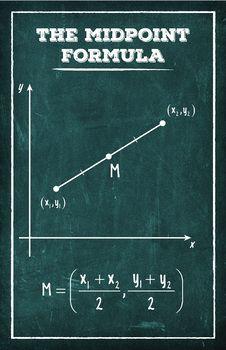 The Midpoint Formula - Math Poster Learn Physics, Physics And Mathematics, Mathematics Images, Algebra Worksheets, Math Poster, Math Graphic Organizers, Math Vocabulary, Math Formulas, Math About Me