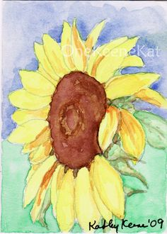 Sunflower ACEO By Kathy Keene