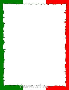 Printable Italian flag border. Use the border in Microsoft Word or other programs for creating flyers, invitations, and other printables. Free GIF, JPG, PDF, and PNG downloads at http://pageborders.org/download/italian-flag-border/