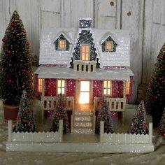 KD Vintage Christmas Woodland Cottage II