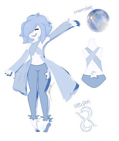 Gemsona- Moonstone (Lu) by Wolfy-tan on @DeviantArt
