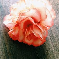 Spring is in full Bloom! So let's put flowers in our hair and dance to the sound of nature...  Gorgeous Peach Rose Cluster attached to a single prong alligator clip. This measures approximately 3 inches across. Some variation due to sizing of the flowers.   *Pieces To Peaces Sizing*  One S...
