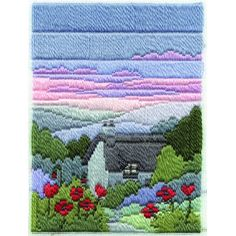 Summer Evening, longstitch embroidery kit by Derwentwater, UK