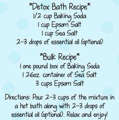 🌸🍋Bath Detox Benefits And Recipes 🍋🌸 - Detox bath Detox Bath Recipe, Bath Detox, Bath Recipes, Detox Recipes, Baking Soda Detox Bath, Young Living, Detox Bad, Pilates, Foot Detox