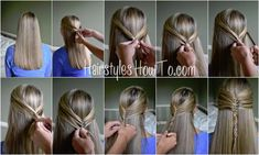 Mermaid Half Crown Braid Tutorial