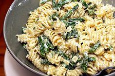 Asparagus, Goat Cheese And Lemon Pasta