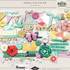 Spring is in the Air by Mari Koegelenberg & Mommyish | The Elements #scrapbook #digiscrap