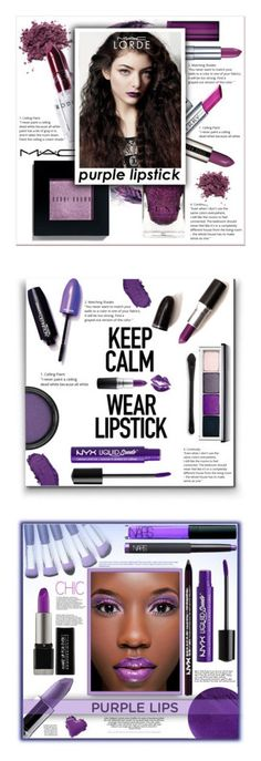 """Winners for Beauty Trend We Love: Purple Lipstick"" by polyvore ❤ liked on Polyvore featuring beauty, Rodin, Bobbi Brown Cosmetics, Maybelline, By Terry, MAC Cosmetics, lorde, purplelipstick, Clinique and NYX"