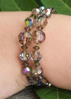 Vintage Shiny Glass Bead Bracelet