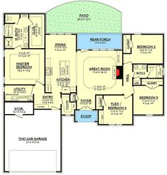 Plan 11785HZ: Family Entry With Built In Lockers