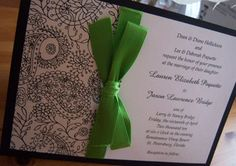 Wedding invitation (sans green ribbon)