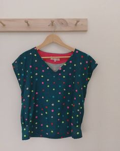 """The """"Miss Connover"""" top in polka dots"""