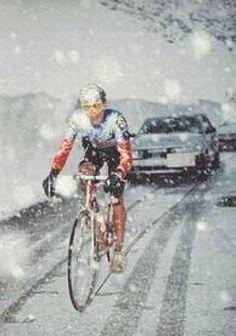 Andy Hampsten, Giro de Italia - 1988 (Ascent on the Passo di Gavia)