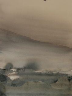 """Koen Lybaert; Watercolor 2013 Painting """"Nord-Trøndelag"""""""
