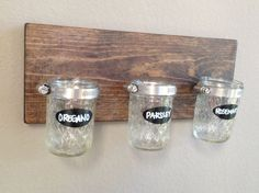 Hey, I found this really awesome Etsy listing at https://www.etsy.com/listing/182122962/rustic-chic-hanging-mason-jar-herb