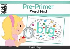 Sight Words - Word Find Center (Pre-Primer Words)About this book:This book contains a collection of pre-primer sight words word find pages intended for use with children in Preschool, Kindergarten (Prep) and Grade 1. Directions for use:Children beginning to read struggle with the common Word Find worksheet.