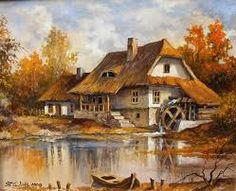 kolay yağlı boya tabloları manzara ile ilgili görsel sonucu