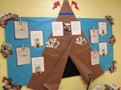 Perfect for our Native American Research projects! I'm going to attempt to make this. Perfect for our Native American Research projects! I'm going to attempt to make this. Thanksgiving Bulletin Boards, Thanksgiving Activities, November Bulletin Boards, Thanksgiving Crafts, 3rd Grade Social Studies, Teaching Social Studies, Teaching History, Preschool Bulletin, Classroom Bulletin Boards