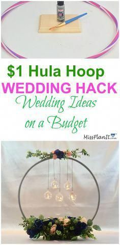 It amazes me what you can do with a 1 hula hoop from the Dollar Tree. This hula hoop wedding hack is such a clever idea if I do say so myself. Wedding Tips, Fall Wedding, Wedding Planning, Wedding Reception, Dream Wedding, Wedding Hair, Wedding Backyard, Trendy Wedding, Wedding Events
