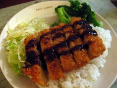 Vegan Tofu Tonkatsu- Definitely want to try this, but will serve it with brown rice and bake the tofu instead of deep frying it to make it healthier!