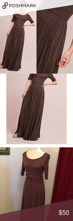 3cdea4a8b58 Anthropologie Bordeaux Torey Maxi Dress Beautiful grey plum colored knit Maxi  dress by Bordeaux for Anthropologie