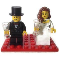 LEGO Hochzeitstorte Topper Gunst kundenspezifisch von HeartOfBricks