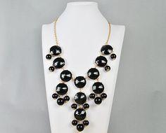 Bubble Necklace, Statement Necklace, Bubble Jewelry(Fn0508-Black): Jewelry: Amazon.com
