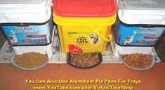 Plastic Container Pet Food Dispenser