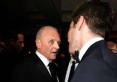 WEST HOLLYWOOD CA FEBRUARY 22 Actors Anthony Hopkins and Jake Gyllenhaal attend the 2009 Vanity Fair Oscar party hosted by Graydon Carter at the...