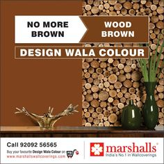 Give your wall a classic blend of luxury and panache with this Wood Brown wallcovering from Marshalls Wallcoverings!  Explore this exquisite wallcovering on www.marshallswallcoverings.com #DesignWalaColour #MarshallsWallcoverings #Walldecor #Interiordecor #wallcoverings #homes #offices #homedecor #homeinteriors #officedecor #officeinteriors #walldesigns #interiordesigns #homedesigns #officedesigns #homestyling #officestyling #India.