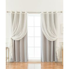 Best Home Fashion Gray & Sheer Star Cutout 4-Pc. Blackout Curtain... ($60) ❤ liked on Polyvore featuring home, home decor, window treatments, curtains, gray sheer curtain panels, sheer window panels, grommet sheer curtains, grommet curtains and grey grommet curtains