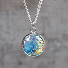 Magical Dragon Scales Necklace - Ocean at shanalogic.com