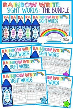 This activity combines repeated practice writing the sight words, tracing and reading the sight words embedded in a sentence, and illustrating the sentence to show comprehension. This is an engaging way to help teach students sight words! There are 220 SIGHT WORDS in this bundle to provide students with a lot of opportunities to practice sight word recognition.