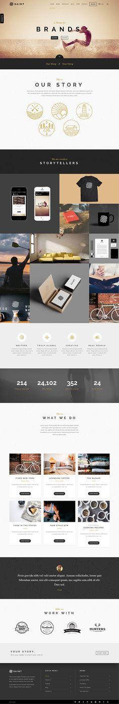 Saint - Creative One-Page Multi-purpose Theme on Behance